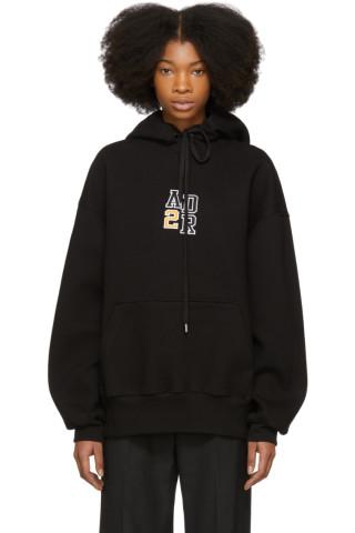 ADER error - Black Oversized Logo Hoodie