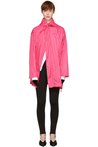 Balenciaga - Pink Scarf Windbreaker Jacket