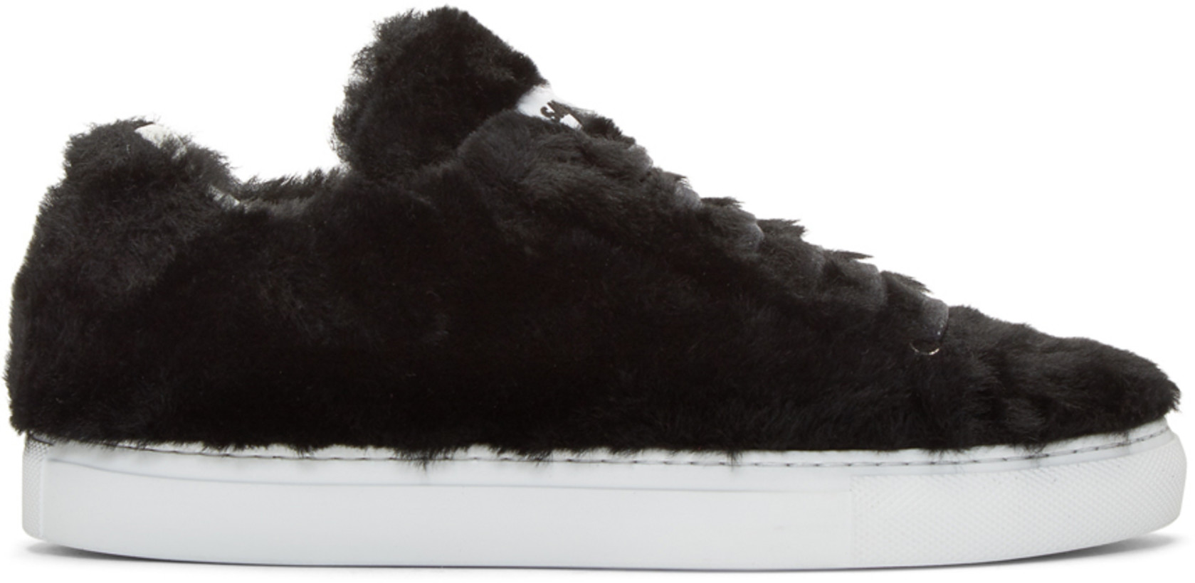 Jil Sander Black Shearling Sneakers