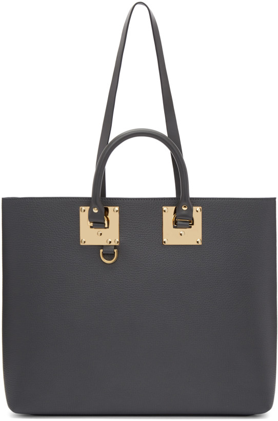 Sophie Hulme Grey Soft Cromwell East West Tote