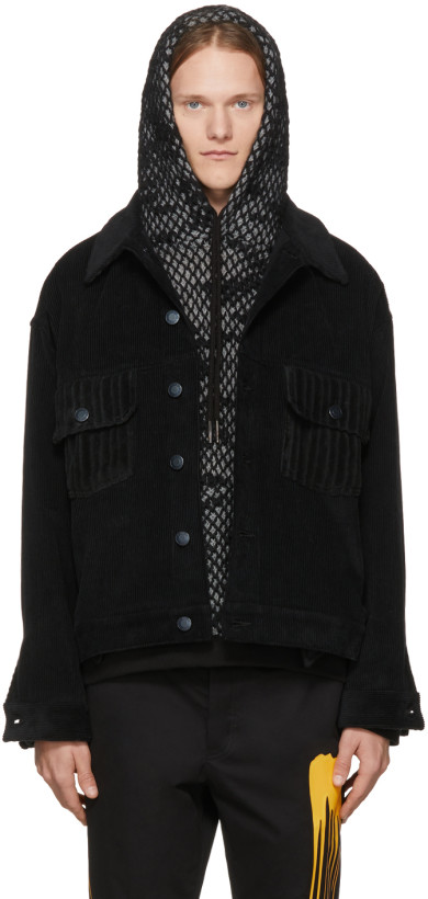 Rochambeau Black Corduroy Short Jacket