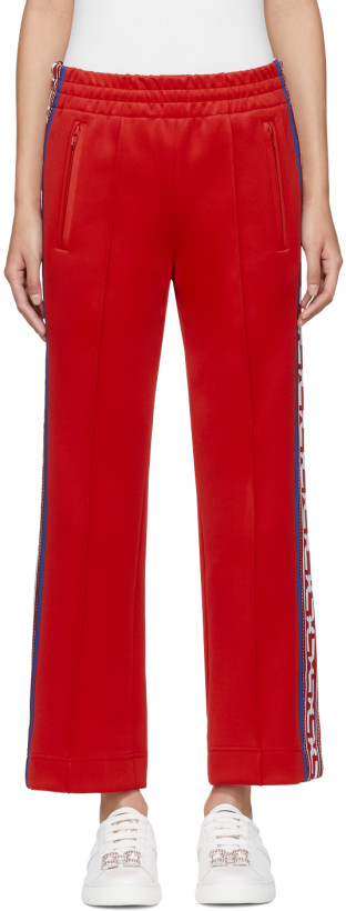Marc Jacobs Red Logo Track Pants
