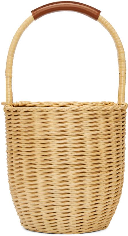 A.P.C. Beige Woven Basket Jeanne Bag