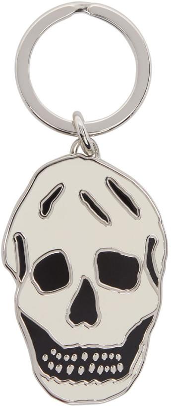 Alexander McQueen Off-White Skull Keychain