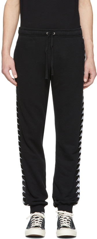 Faith Connexion Black Kappa Edition Jogger Pants