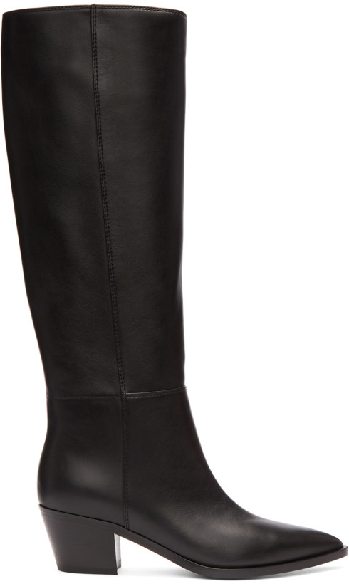 Gianvito Rossi Black Daenerys Knee-High Boots