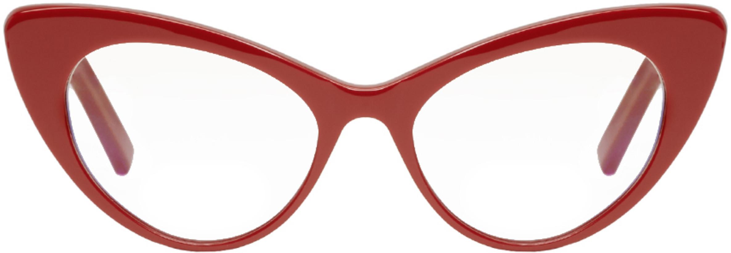 Saint Laurent Red Bold Cat Eye Glasses
