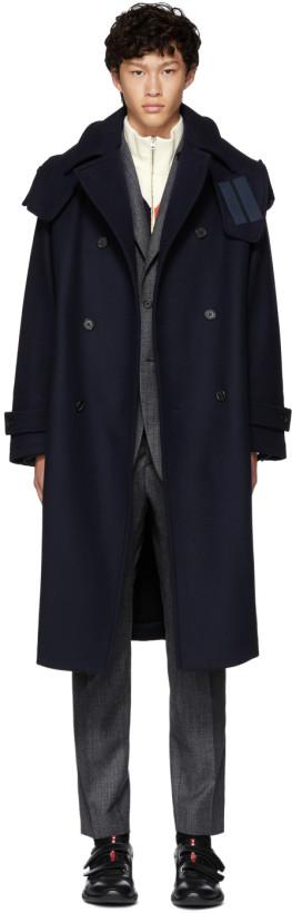 Stella McCartney Navy Lance Coat