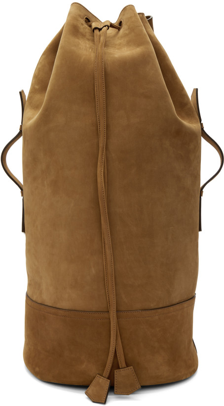 AMI Alexandre Mattiussi Brown Military Backpack