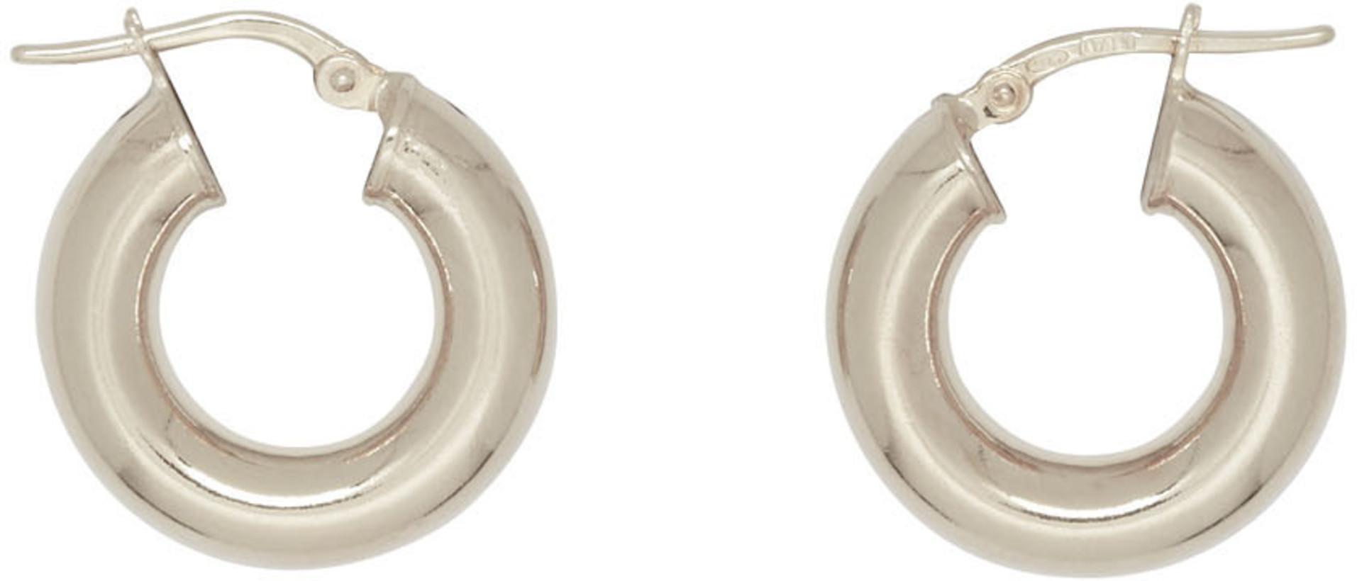 Sophie Buhai Silver Tiny Everyday Hoop Earrings