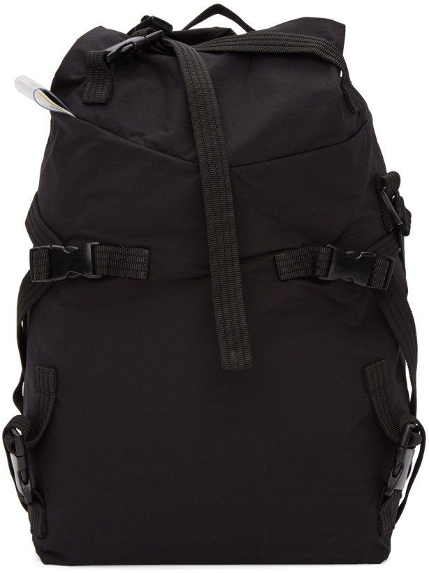 The Viridi-anne Black Multiple Strap Backpack