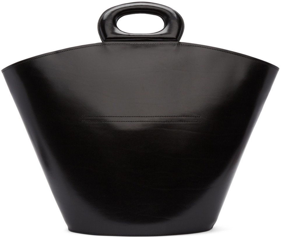 Lemaire Black Basket Tote