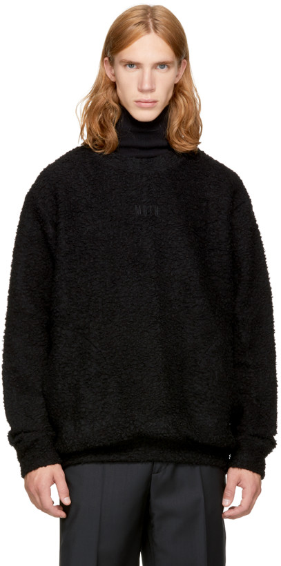 Song for the Mute Men's Black Boucle Sweater