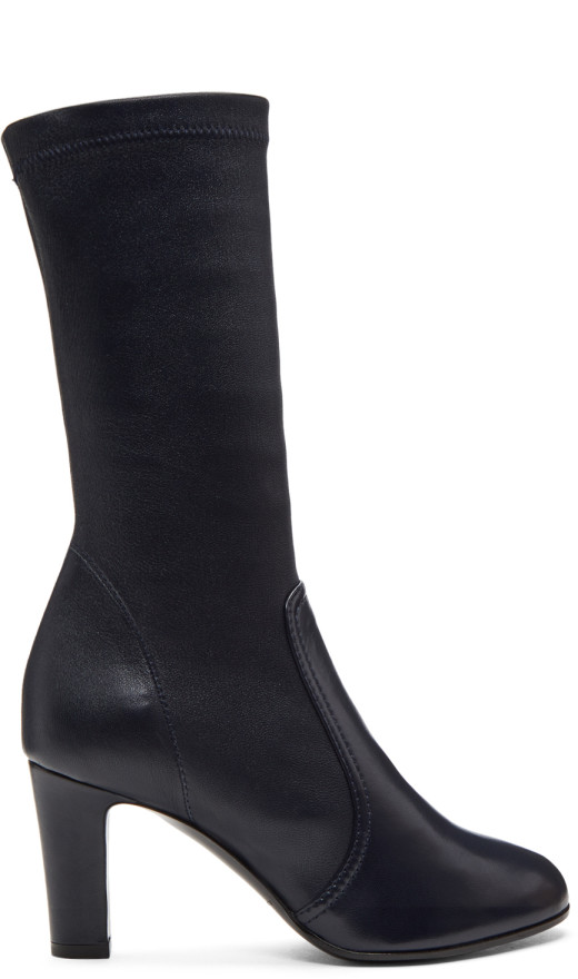 A_Plan_Application - Navy Low Stretch Boots