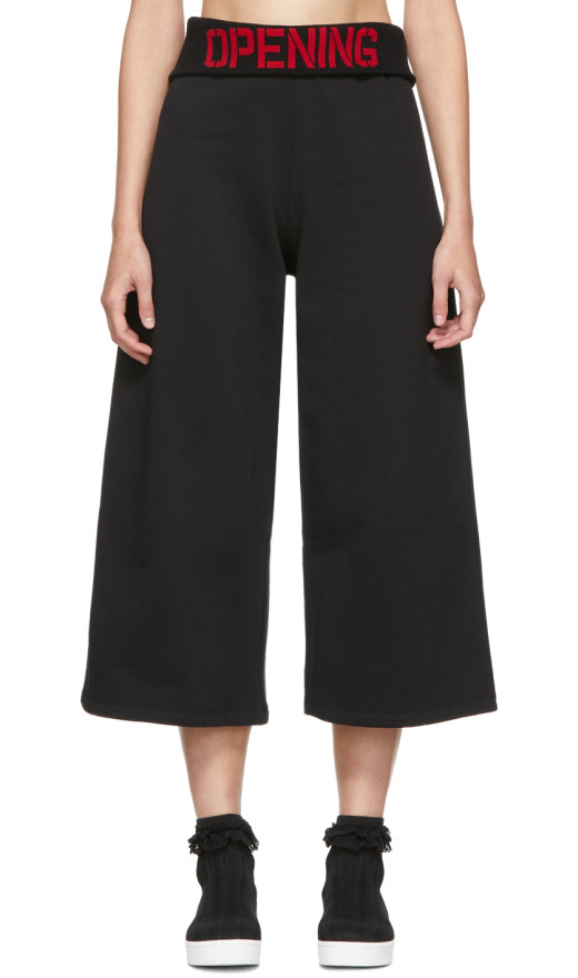 Opening Ceremony - Black Elastic Logo Crop Lounge Pants