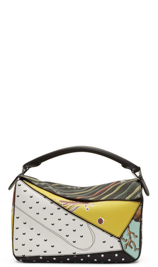 Loewe - Multicolor Paula's Ibiza Edition Patchwork Puzzle Bag