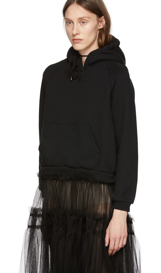 Chika Kisada - Black Tulle Hoodie Dress
