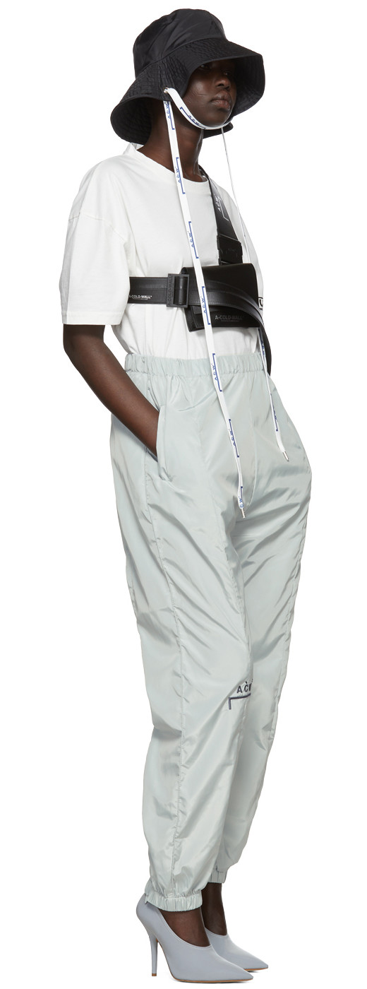 A-Cold-Wall* - Grey Embroidered Nylon Lounge Pants
