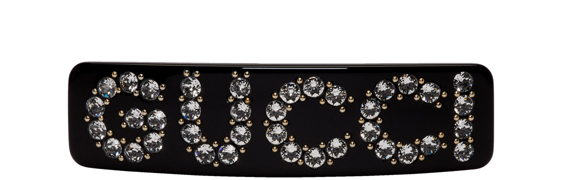 Gucci - Black Crystal Barrette