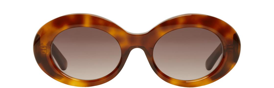 Balenciaga - Tortoiseshell Acetate Round Sunglasses