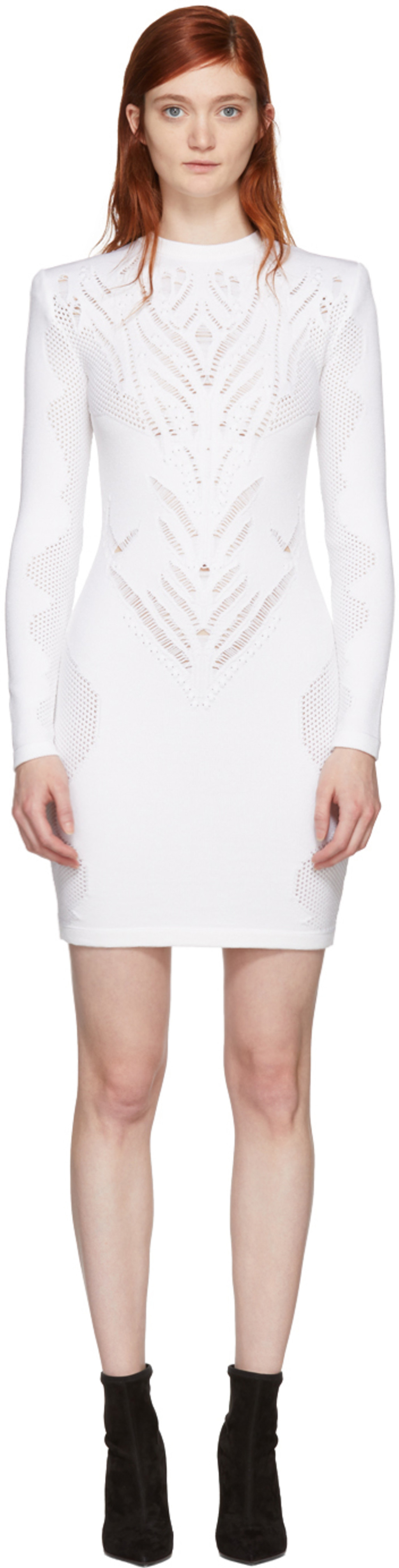 Dress for Women, Evening Cocktail Party On Sale, White, Cotton, 2017, 8 Dsquared2