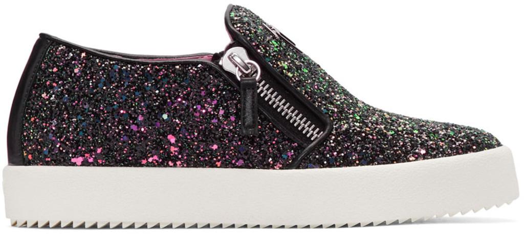 Giuseppe Zanotti SSENSE Exclusive Glitter May London Slip-On Sneakers fRP3Lwn