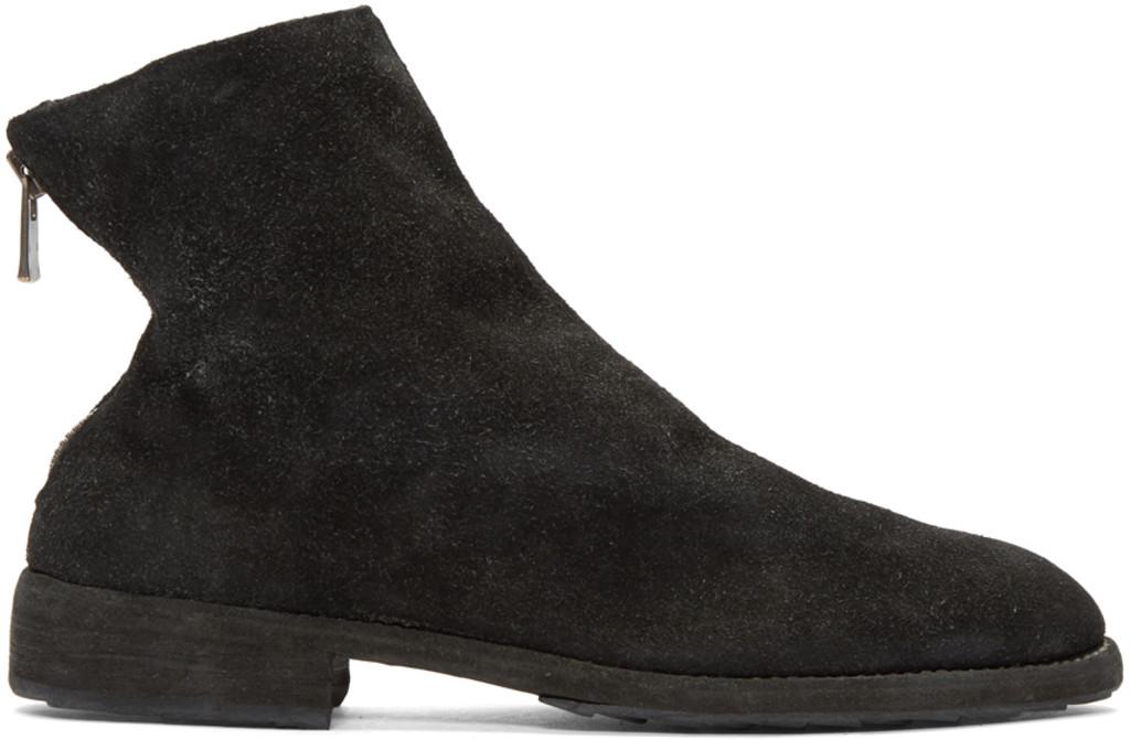 TAKAHIROMIYASHITA TheSoloist. Black Soldato Front-Zip Boots