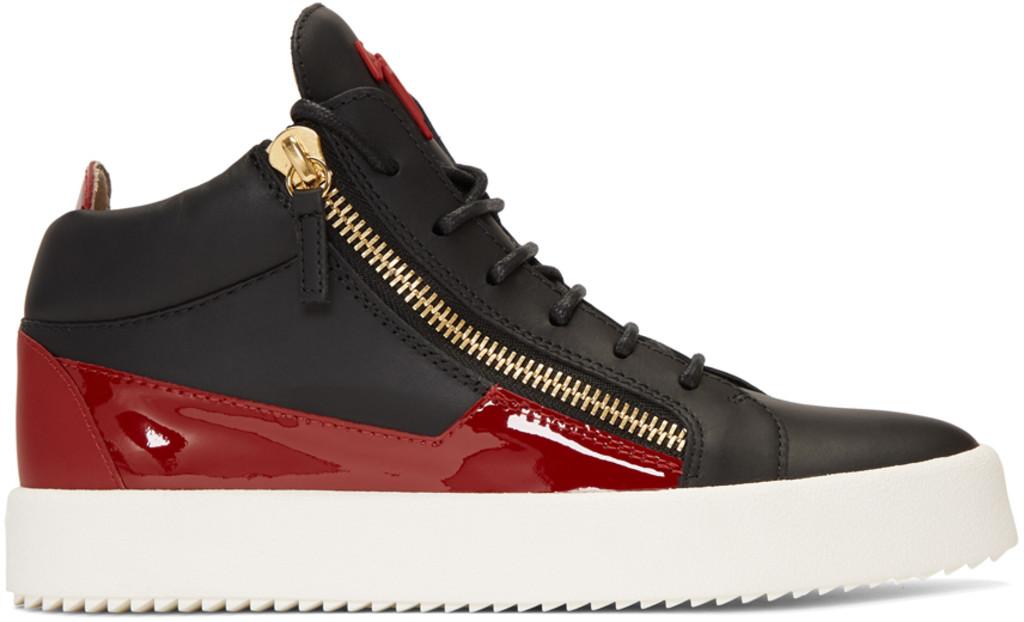 Y-3 Red Velvet May London High-Top Sneakers