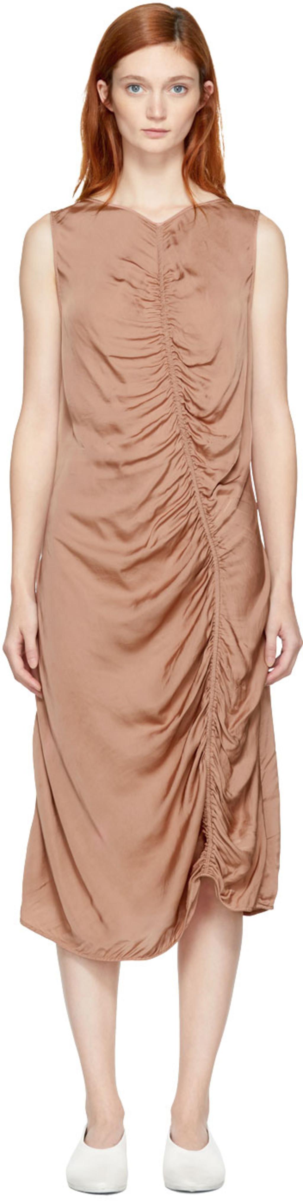 Pink Liquid Satin Dress Raquel Allegra