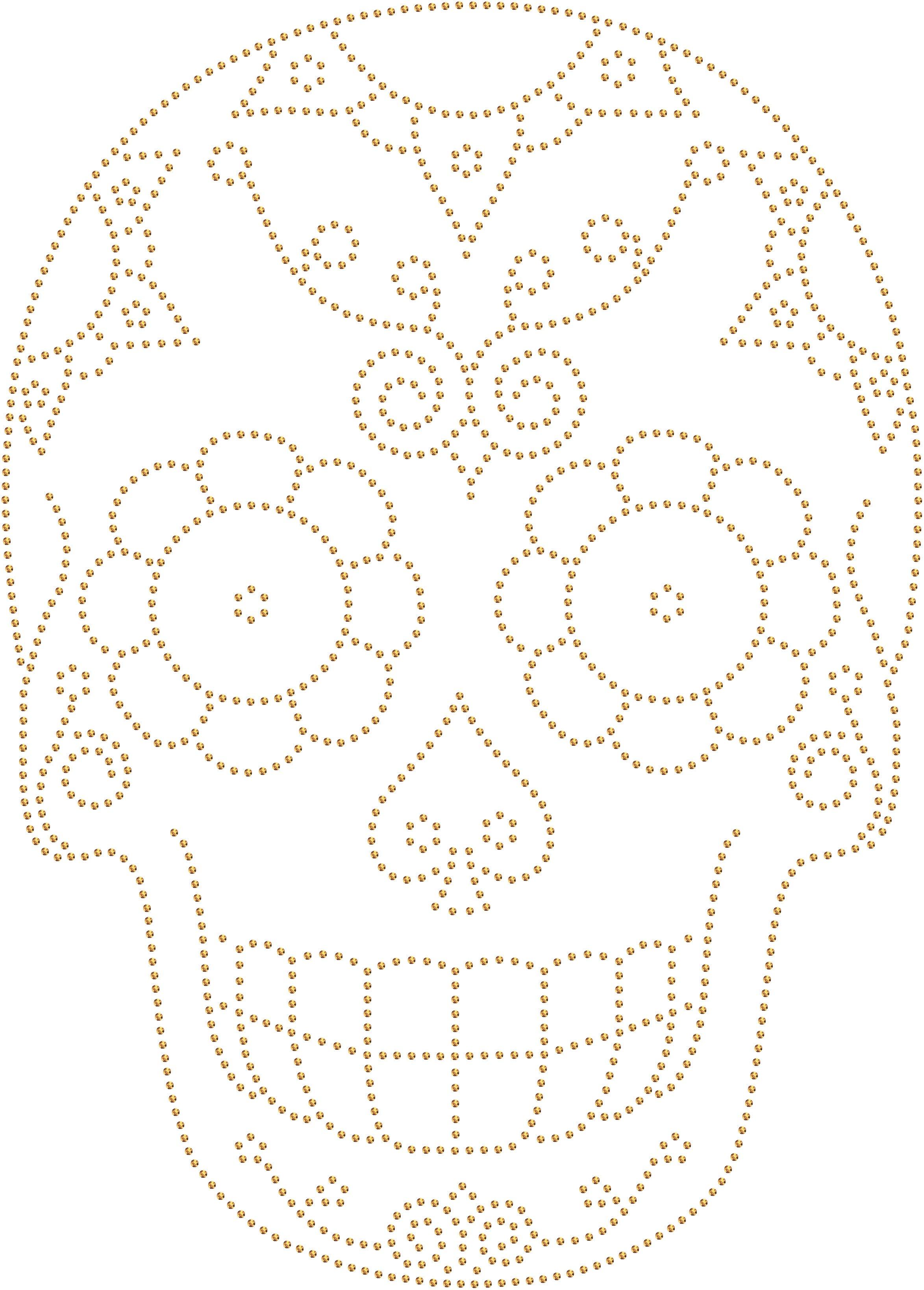 Caveira Mexicana 2 Desenhos Transfer Strass