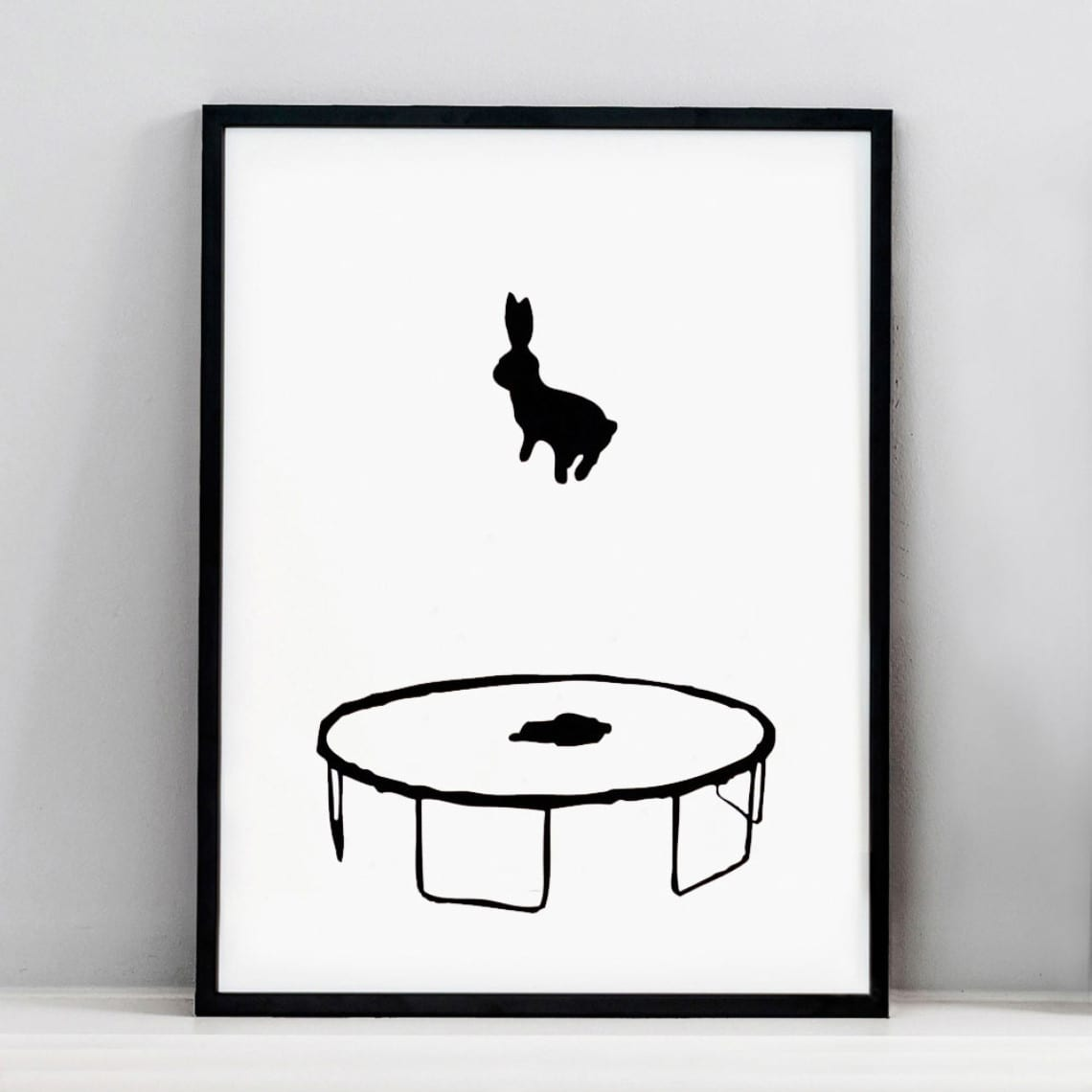 HAM Bouncing Rabbit Screen Print