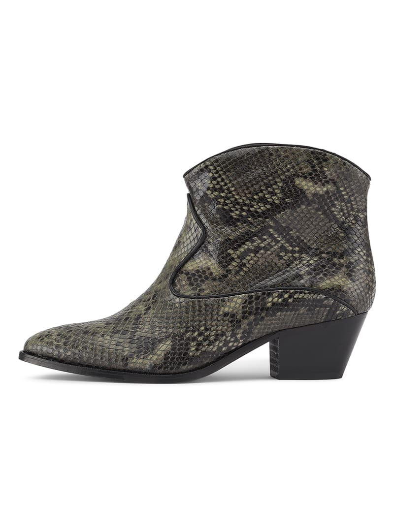 Custommade Green Angel Snake Boots