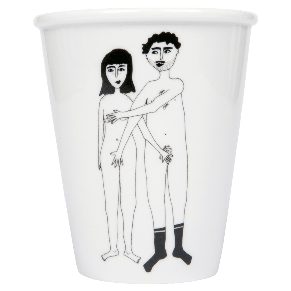 Helen B Naked Couple Cup - Front