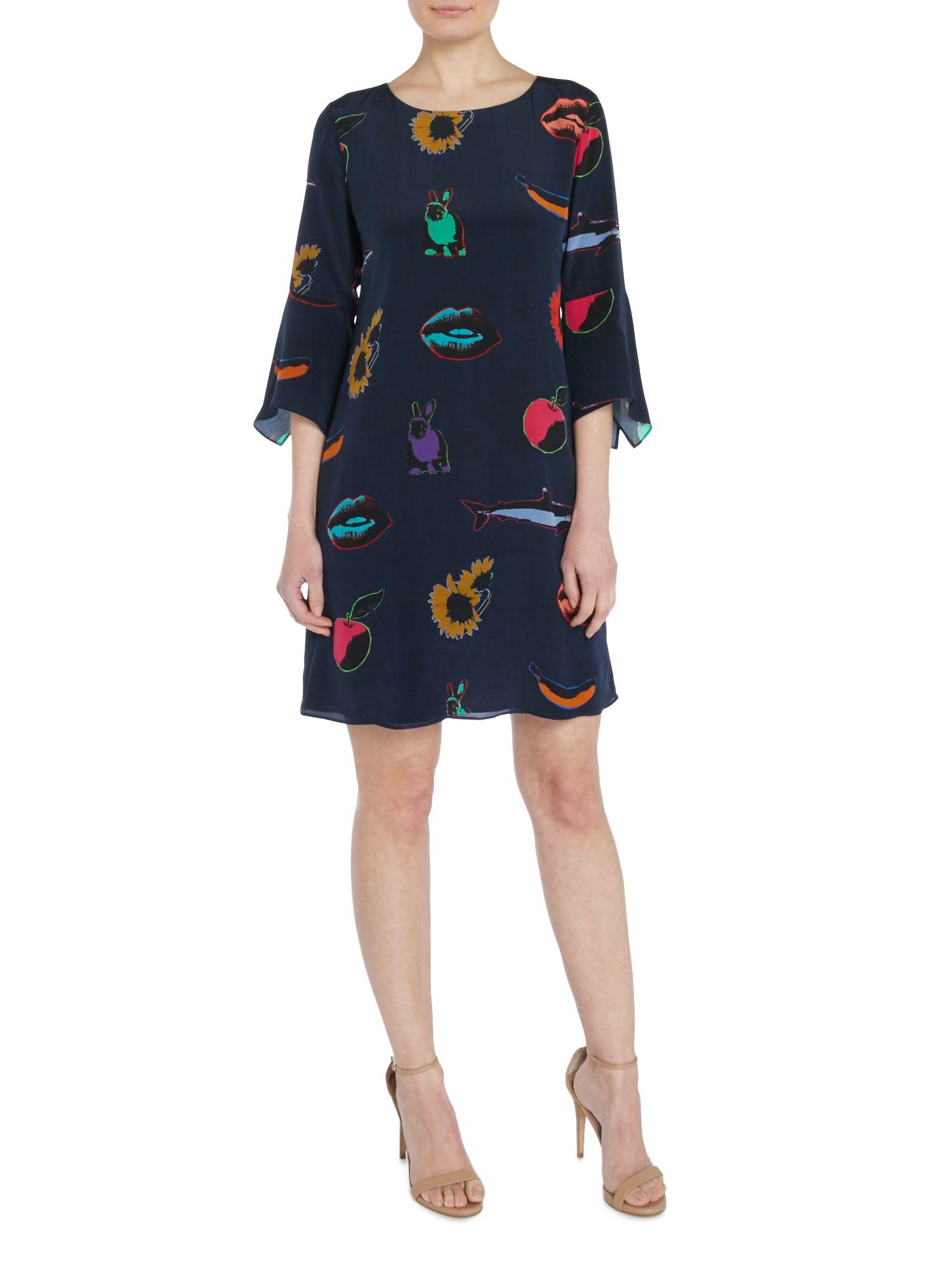 Paul Smith Artful Lives Silk Printed Tunic Dress