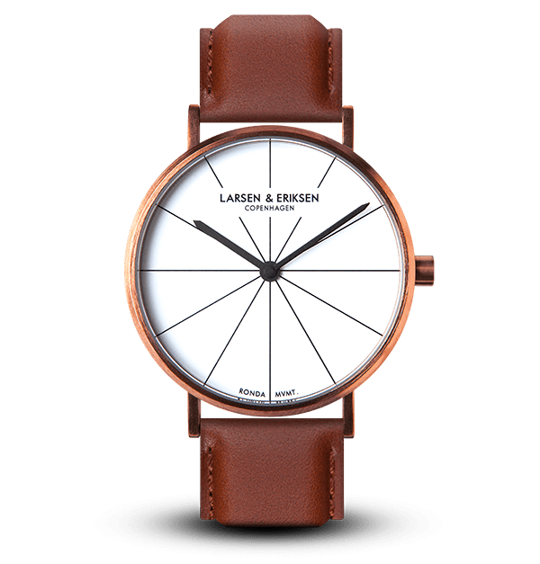 Larsen & Eriksen Copper White Brown 41mm Absalon Watch