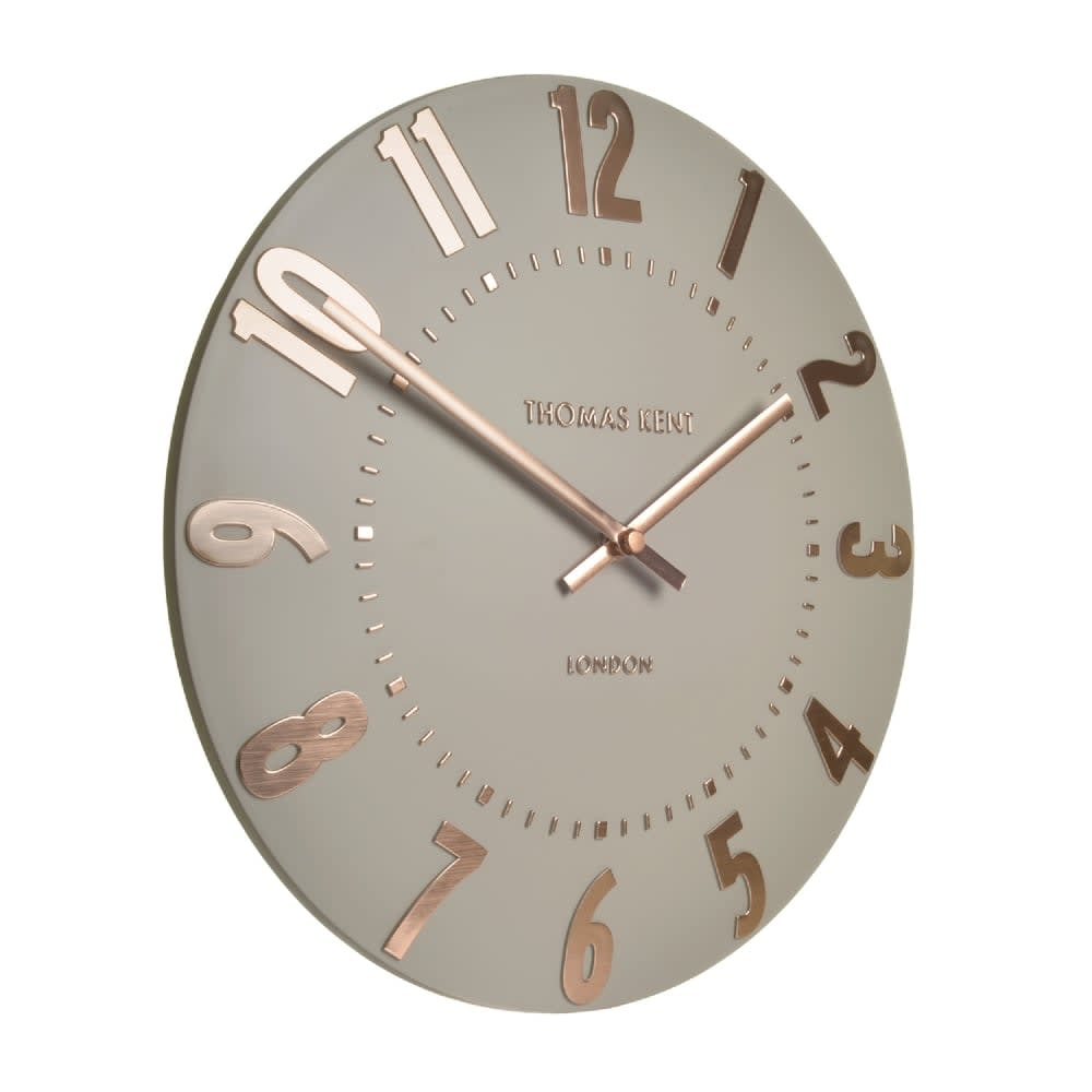 Thomas Kent 12 In Rose Gold Mulberry Wall Clock