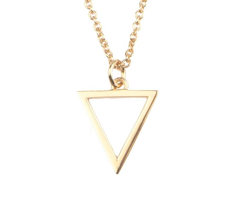 All The Luck In The World Gold Open Triangle Souvenir Necklace