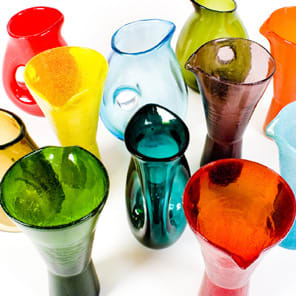 Pols Potten Bright Coloured Glass Jug with Hole Handle