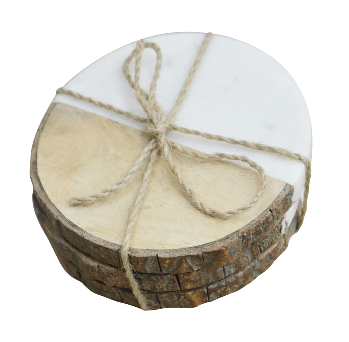 Dassie Artisan Bark and Marble Coasters