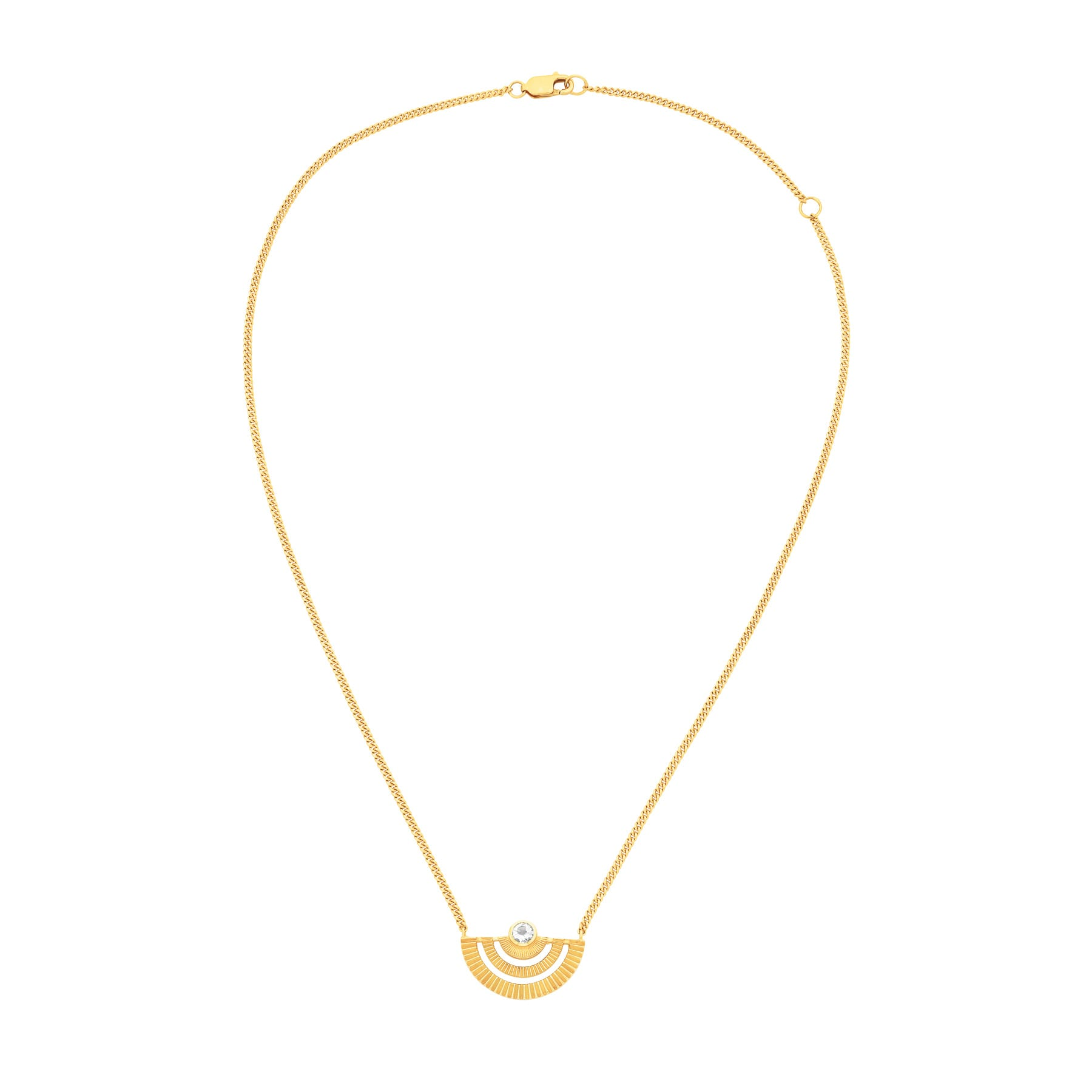 Zoe and Morgan  Gold With White Zircon Golden Hour Necklace