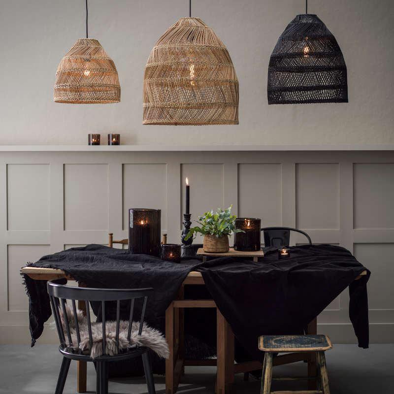 PR Home Large Rattan Lampshade Pendant
