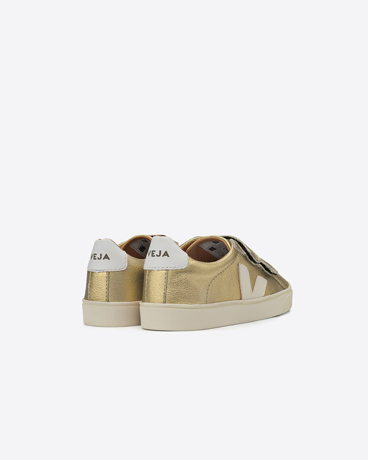 Veja Gold Leather Small Velcro Esplar Trainers