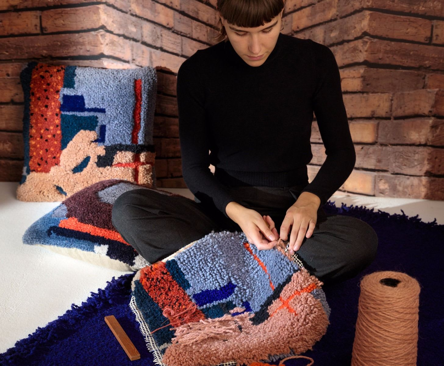 Tom Dixon Pink Abstract Cushion