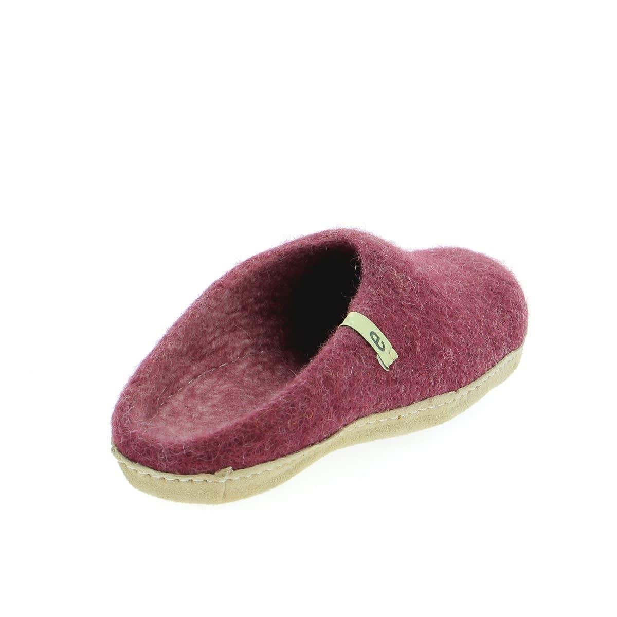 Egos Copenhagen Bordeaux Felted Wool Slippers