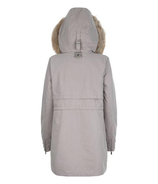 Parka London Pale Grey Caversham Faux Fur Lined Parka