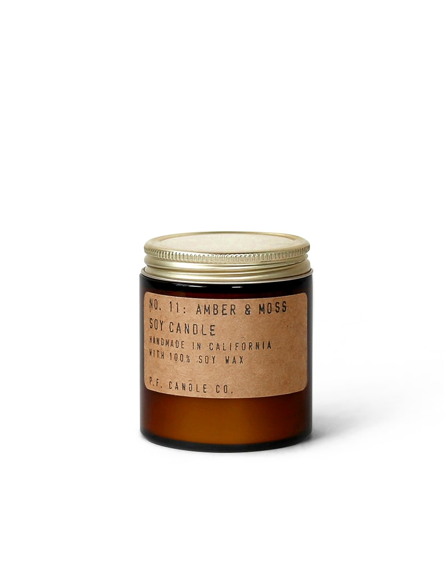 P.F. Candle Co Large Amber And Moss Candle