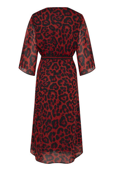 B.Young Red Fria Dress