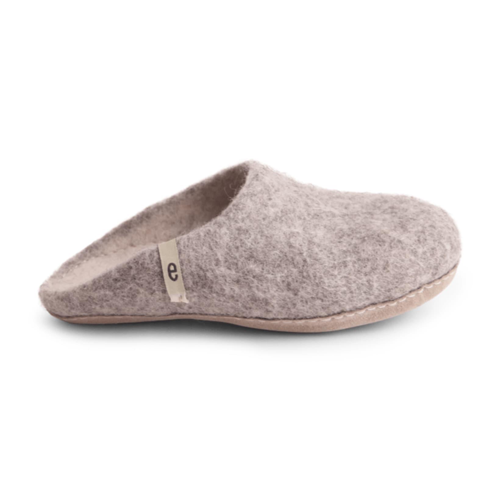 Women's Wool Slippers - Grey