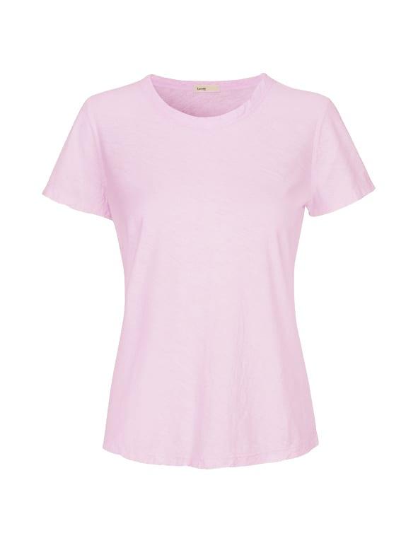 Levete Room Soft Pink Round  Neck T Shirt