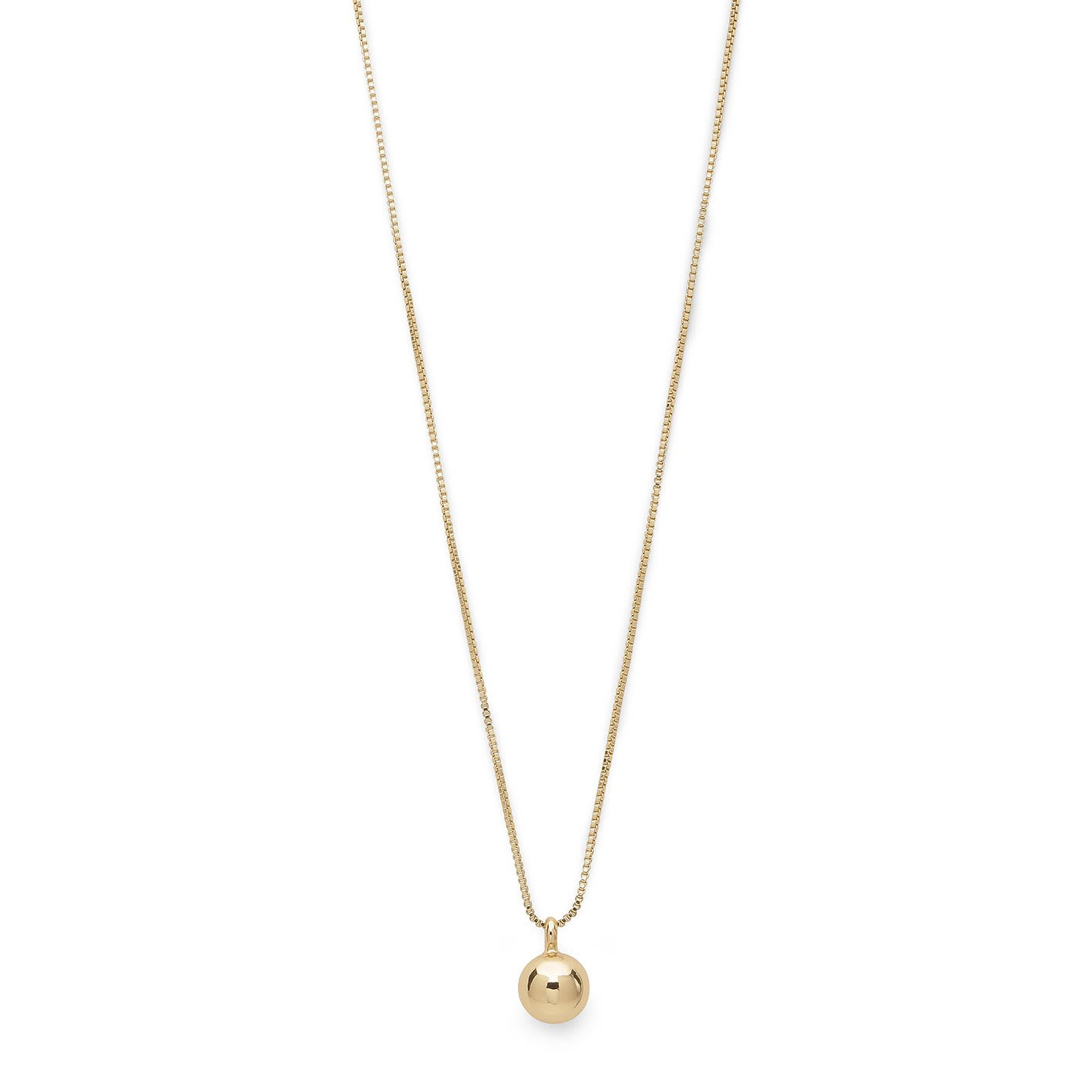 Pilgrim Gold Sphere Necklace Small